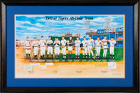 """1999 """"Detroit Tigers All-Time Team"""" Multi-Signed Print"""