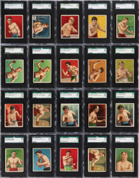 """1910 T219 Honest Long Cut & Miner's Extra """"Champion Pugilists"""" Boxing Collection (20)"""