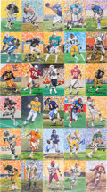 Football Collectibles:Photos, Football Hall of Famers Goal Line Art Signed Postcards Lot of 85. ...