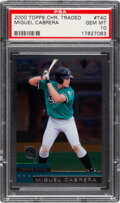 Baseball Cards:Singles (1970-Now), 2000 Topps Chrome Traded Miguel Cabrera #T40 PSA Gem Mint 10....