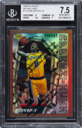 Basketball Cards:Singles (1980-Now), 1996 Finest Kobe Bryant (Refractor, With Coating) #74 BGS NM+ 7.5....