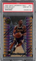Basketball Cards:Singles (1980-Now), 1996 Finest Kobe Bryant (Members Only-With Coating) #52 PSA Gem Mint 10....