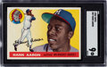 Baseball Cards:Singles (1950-1959), 1955 Topps Hank Aaron #47 SGC Mint 9 - Only One Higher. ...