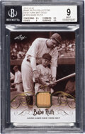 Baseball Cards:Singles (1970-Now), 2016 Leaf Babe Ruth Collection Babe Ruth (NY Bat Gold) #YB20 BGS Mint 9 - #'d 1/1....