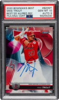 Baseball Cards:Singles (1970-Now), 2020 Bowman's Best Mike Trout Red Refractor Autograph #B20MT PSA Gem Mint 10 - Auto 9 #'d 5/10!...