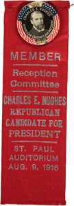 Political:Pinback Buttons (1896-present), Charles Evans Hughes: Colorful Republican Candidate Button....