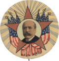 Political:Pinback Buttons (1896-present), Alton B. Parker: One of the Best Single-Portrait Designs for this 1904 Democratic Nominee. ...