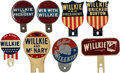 Political:3D & Other Display (1896-present), Wendell Willkie: Large Group of License Plate Attachments.... (Total: 8 Items)