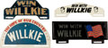 Political:3D & Other Display (1896-present), Wendell Willkie: Group of License Plate Attachments.... (Total: 4 Items)