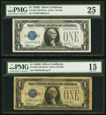Small Size:Silver Certificates, Fr. 1604 $1 1928D Silver Certificates. I-B and J-B Blocks. PMG Graded Very Fine 25; Choice Fine 15.. ... (Total: 2 notes)