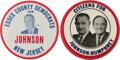 """Political:Pinback Buttons (1896-present), Lyndon B. Johnson: Pair of 3"""" Buttons.... (Total: 2 Items)"""