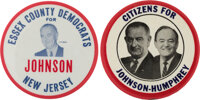 "Lyndon B. Johnson: Pair of 3"" Buttons.... (Total: 2 Items)"