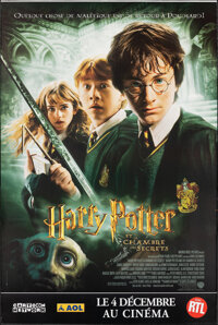 """Harry Potter and the Chamber of Secrets (Warner Bros., 2002). Rolled, Very Fine. French Grandes (2) (Approx. 46.25""""..."""