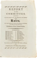 Political:Small Paper (pre-1896), [Thomas Jefferson]: Report of the Committee for Certifying Electoral College Votes....