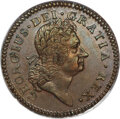 Colonials, 1724 1/2 P Hibernia Halfpenny MS62 Brown PCGS.This piece is Martin obverse 8.3, combined with an unlisted reverse die. The ...