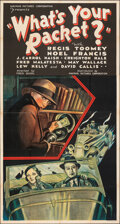 "Movie Posters:Crime, What's Your Racket? (Mayfair Pictures, 1934). Folded, Fine/Very Fine. Three Sheet (41"" X 80""). Crime.. ..."