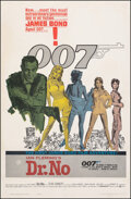 "Dr. No (United Artists, 1962). Fine- on Linen. Trimmed One Sheet (27"" X 41""). Yellow Smoke Style. Mitchell Hoo..."
