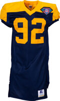 Football Collectibles:Uniforms, 1994 Reggie White Game Issued, Signed Green Bay Packers Throwback Jersey....