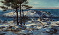 Paintings, Andrew Winter (American, 1892-1958). Blue Day, Monhegan Island, 1943. Oil on canvas. 24 x 40 inches (61.0 x 101.6 cm). S...