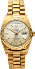 Timepieces:Wristwatch, Rolex, 18k Gold Oyster Perpetual Day-Date, Ref. 1803, circa 1970. ...