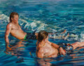 Paintings, Susan Clover (b. 1944). Untitled (Boys of Summer), 1998. Oil on linen. 48 x 60 inches (121.9 x 152.4 cm). Signed upper r...