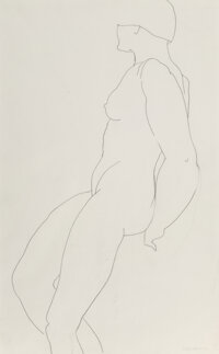 Tamara de Lempicka (1898-1980) Nu Debout, 1928 Pencil on paper 17-1/4 x 11 inches (43.8 x 27.9 cm) Stamped with sign