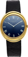 Timepieces:Wristwatch, Patek Philippe, Rare Large Oval Yellow Gold Automatic, Ref. 3594. ...