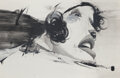 Works on Paper, Alexandros Vasmoulakis (b. 1980). Untitled, 2008. Mixed media on paper. 42 x 65 inches (106.7 x 165.1 cm). Signed and da...