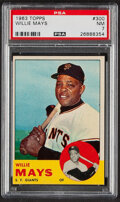 Baseball Cards:Singles (1960-1969), 1963 Topps Willie Mays #300 PSA NM 7. The Say Hey ...