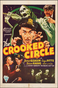"The Crooked Circle (Astor, R-1942). Folded, Fine+. One Sheet (27"" X 41""). Mystery"