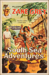 "South Sea Adventures (Principal Distributing, 1932). Folded, Very Fine-. One Sheet (27"" X 41""). Documentary..."