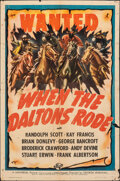 "Movie Posters:Western, When the Daltons Rode (Universal, 1940). Folded, Fine-. One Sheet (27"" X 41""). Western.. ..."