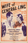 """Movie Posters:Drama, The Wife of General Ling (Gaumont, 1938). Folded, Fine. One Sheet (27"""" X 41""""). Drama.. ..."""