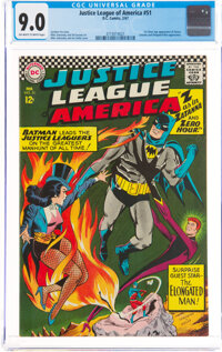 Justice League of America #51 (DC, 1967) CGC VF/NM 9.0 Off-white to white pages