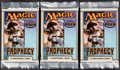 Memorabilia:Trading Cards, Magic: The Gathering Prophecy Edition Booster Packs Group of 3 (Wizards of the Coast, 2000). ...