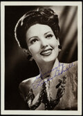 """Movie Posters:Miscellaneous, Linda Darnell (c. 1940s). Very Fine-. Signed Fan Club Photo (5"""" X 7""""). Miscellaneous.. ..."""