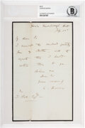 Autographs:Non-American, Charles Darwin Autograph Letter Signed. ...