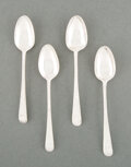 Silver & Vertu, A Set of Four American Coin Silver Teaspoons. Marks: to each: C·B. 5-1/4 inches (13.3 cm) (each). 1.55 troy ounces. ... (Total: 4 )