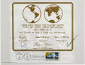 Autographs, Neil Armstrong and Frank Borman Signed First Day Cover. ...