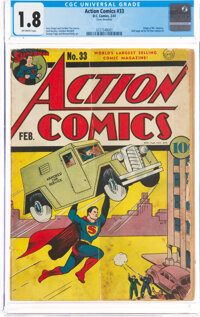 Action Comics #33 (DC, 1941) CGC GD- 1.8 Off-white pages