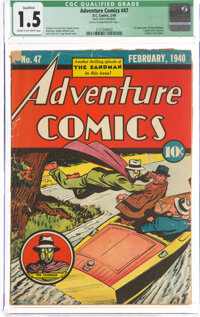 Adventure Comics #47 (DC, 1940) CGC Qualified FR/GD 1.5 Cream to off-white pages