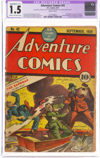 Adventure Comics #42 (DC, 1939) CGC Apparent FR/GD 1.5 Cream to off-white pages