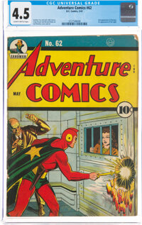 Adventure Comics #62 (DC, 1941) CGC VG+ 4.5 Slightly brittle pages