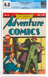 Adventure Comics #44 (DC, 1939) CGC VG 4.0 Off-white to white pages
