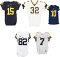 Football Collectibles:Uniforms, 2000's Michigan Wolverines Game Worn Jerseys Lot of 5 - Gallon, Hudson, Thomas, Darboh and Ruduck.... (Total: 5 item)