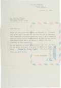 Autographs:Non-American, Max Born Typed Letter Signed....