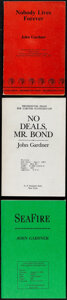 Movie Posters:James Bond, James Bond Uncorrected Proof Book Lot by John Gardner (Jonathan Cape/G.P. Putman's Sons, 1986-1994). Overall: Very Fine. Bri... (Total: 3 Items)