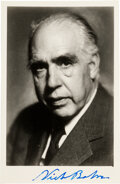 Autographs:Non-American, Niels Bohr Signed Photograph....