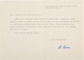Autographs:Non-American, Max Born Typed Letter Signed. ...