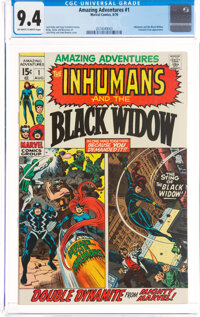 Amazing Adventures #1 The Inhumans and The Black Widow (Marvel, 1970) CGC NM 9.4 Off-white to white pages